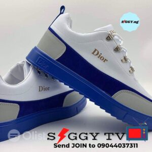 Blue and White Color Dior Sneakers available for sale at a giveaway price. Contact me to get yours delivered to you immediately. Dior Sneakers available in all sizes (from 40 - 45). Thank you for your patronage!