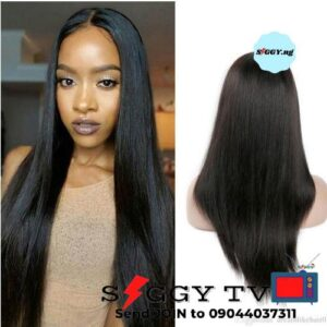 It is a Bone Straight Wig with closure  made with quality straight hair blend. This hair wig doesn't tanglenor shed. Buy in Nigeria.