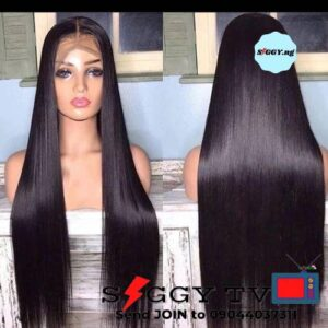 Straight Wig with closure made with quality soft bouncy bone strait hair wig . Very soft and lustrous, it has a fine texture and doesn't shed.