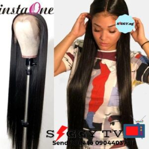 Straight Hair Wig with closure straight color 1B Soft and silky .No shedding. Tangle free. Long lasting and affordable. Buy in Nigeria now.