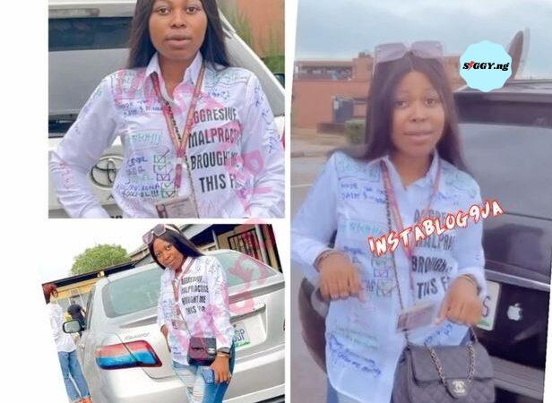 University of Benin (UNIBEN) Female Graduate Peace Ufuoma probed by the school authorities for Examination malpractice ordered to rewrite all exams from 200 Level.