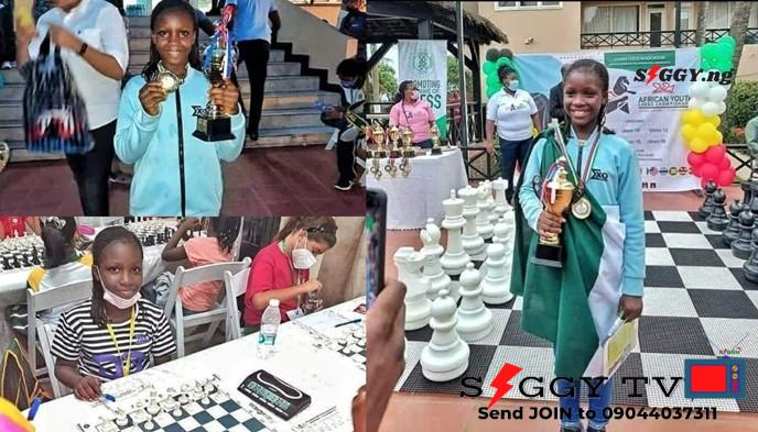 9-year-old Bayelsa-born identified as Deborah Quickpen, has emerged winner of the just concluded U-10 Africa Youth Chess Championship in Ghana, Siggy reports.