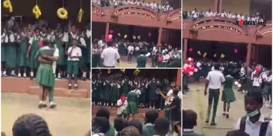 The video of a secondary student inviting his girlfriend to prom has gone viral online and stirred comments amongst internet users,Siggyreveals.