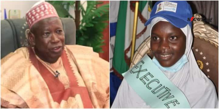 In celebration of the annual international day of the Girl Child, Governor Abdullahi Ganduje made 14-year-old Atika Abubakar Yankaba take his place as Governor of Kano State for 20 minutes,Siggyreveals.