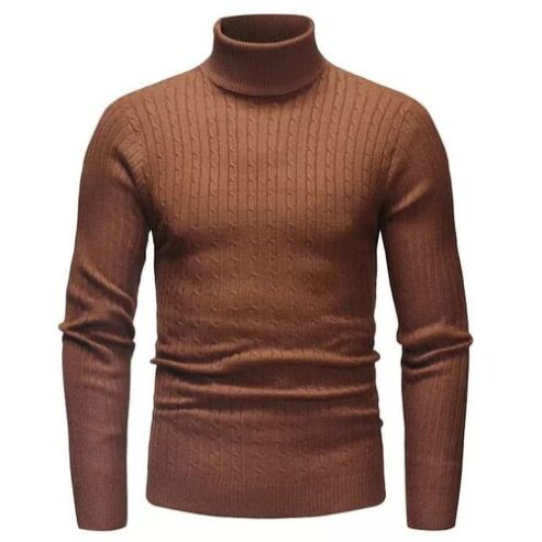 Long-Sleeve-Solid-Casual-Top-Male-Fashion-Turtle-Neck-Basic-T-Shirt-Outfits