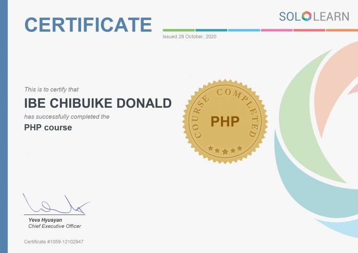 PHP_certificate