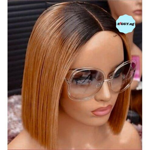 New-Fashion-Blunt-Cut-Ombre-Wig-Human-Hair-With-Closure